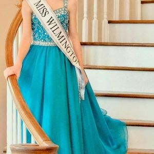 Tiffany Designs Dresses - Tiffany Princess Teal Gown Size 8